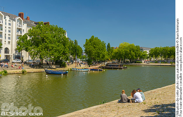 Photo : L'Erdre, Quai Ceineray, Nantes, Loire-Atlantique (44) - (ref. 180625-069) © Jean Isenmann