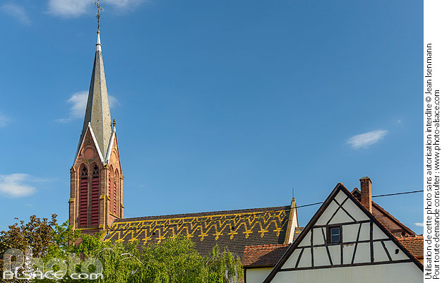 Photo : Eglise catholique Saint-Laurent, Woerth, Bas-Rhin (67) - (ref. 190516-336) © Jean Isenmann