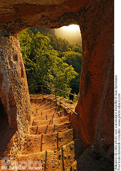Photo : Staircase of the Petit Arnsbourg castle
