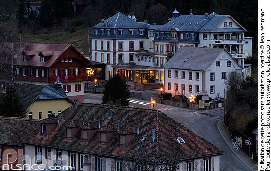 Le Hohwald la nuit, Bas-Rhin (67)