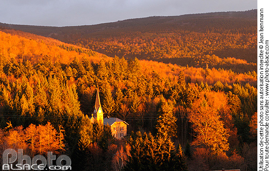 Temple protestant et for�t du Hohwald, Le Hohwald, Bas-Rhin (67)Bas-Rhin (67)