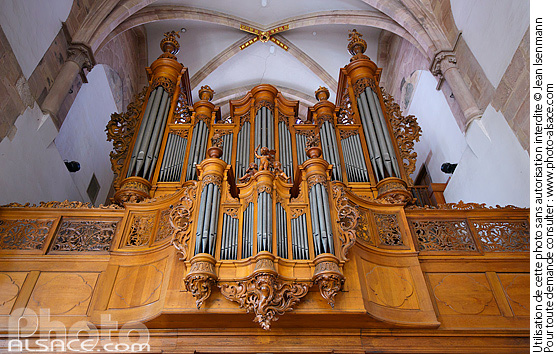 Photo : Orgue (Silbermann), Eglise Saint-Thomas, Strasbourg, Bas-Rhin (67) - (ref. n73697) © Jean Isenmann