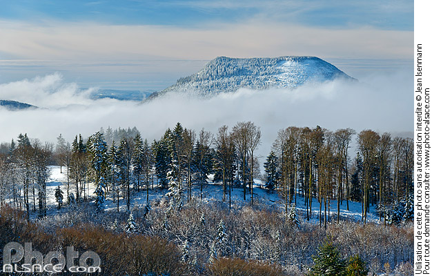 Photo : Climont mountain in winterview from Haut Ranrupt