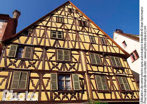 Photo maison alsacienne rue du g n ral de gaulle - Maison a colombage alsacienne ...