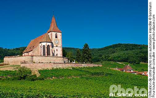 Eglise fortifi�e Saint-Jacques le Majeur, Hunawihr, Haut-Rhin (68)