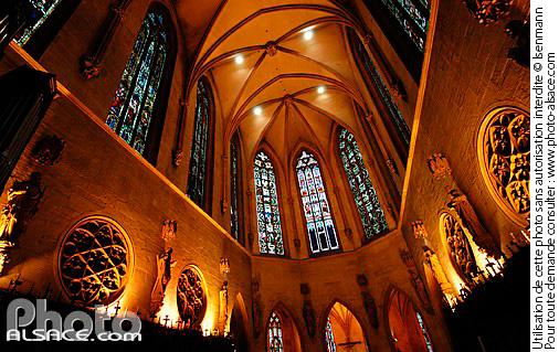 Choeur de l'�glise Saint-Martin, Place de la Cathedrale, Colmar, Haut-Rhin (68)