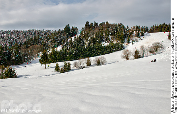 Photo : Station du Lac Blanc, Orbey, Haut-Rhin (68) - (ref. 170212-162) © Jean Isenmann