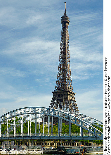 Passerelle Debilly et la tour Eiffel, Paris (75007)