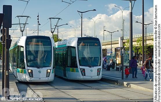 Photo station de tramway porte de pantin parc de la villette boulevard s rurier paris 75019 - Station service porte de pantin ...