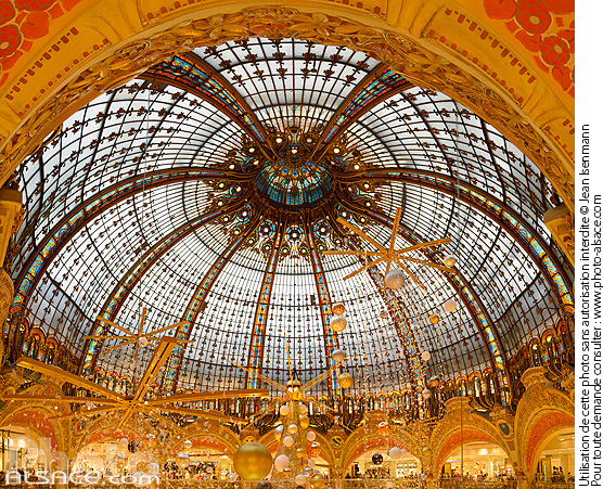 Photo : Coupole des Galeries Lafayette Haussmann, Paris (75009) - (ref. 151220-003) © Jean Isenmann