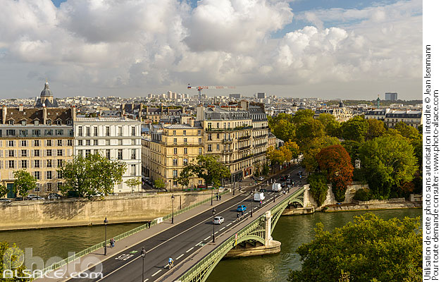 Photo : Pont de Sully, Paris (75005) - (ref. 170930-005) © Jean Isenmann