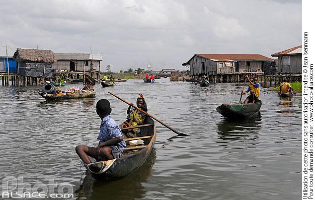 Ganvi�, Lac Nokou�, So-Ava, Atlantique, Benin