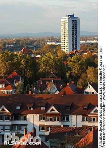 photo la ville de kehl vue de haut allemagne n25333. Black Bedroom Furniture Sets. Home Design Ideas