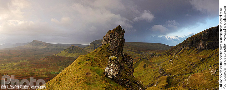 Photo : The Prison, Quiraing, Isle of Skye, Highlands, Scotland, United Kingdom - (ref. n39650) © Jean Isenmann