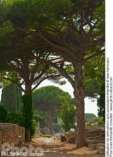 Photo : Ostie (Ostia Antica) ancien port de la Rome antique, Rome Latium, Italie - (ref. 150815-015) © Jean Isenmann