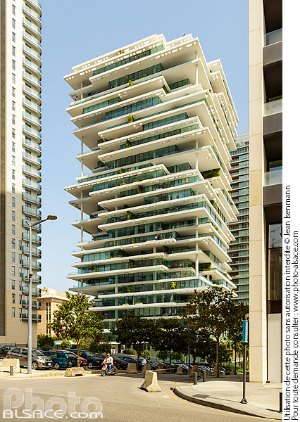 Photo : Immeuble Beirut Terraces (Architecte : Herzog & de Meuron), Centre-ville de Beyrouth, Beyrouth, Liban - (ref. 180504-004) © Jean Isenmann