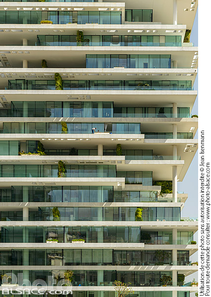 Photo : Immeuble Beirut Terraces (Architecte : Herzog & de Meuron), Centre-ville de Beyrouth, Beyrouth, Liban - (ref. 180504-007) © Jean Isenmann