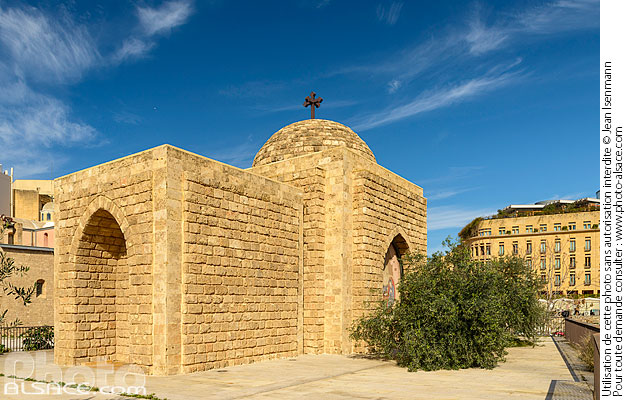Photo : Chapelle Al Nourieh (Lady of the Light) Shrine, Marfaa, Centre-Ville de Beyrouth, Beyrouth, Liban - (ref. 190119-033) © Jean Isenmann
