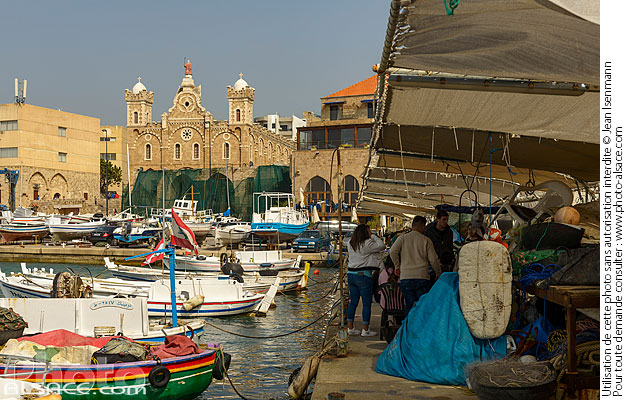 Photo : Port de Batroun, Batroun, Liban-Nord, Liban - (ref. 190414-112) © Jean Isenmann