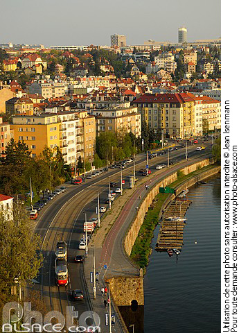 Photo : Quartier de Podolí, Prague, République tchèque - (ref. n55983) © Jean Isenmann