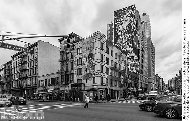 Photo : Carrefour Canal Street et Lafayette Street, Manhattan, New York, Etats-Unis - (ref. 171030-010) © Jean Isenmann
