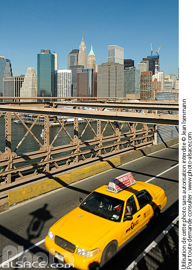 Photo : Brooklyn Bridge, Manhattan, New-York, Etats-Unis - (ref. n61993) © Jean Isenmann