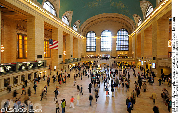 Photo : Grand central terminal, East Midtown, Manhattan, New York, Etats-Unis - (ref. n62169) © Jean Isenmann