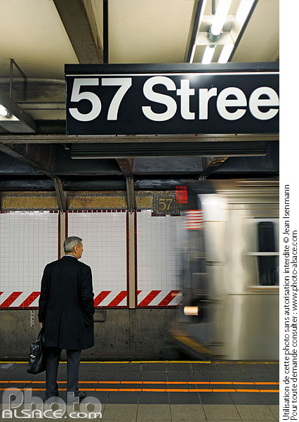 Photo : Station de métro 57 Street, West Midtown, Manhattan, New York, Etats-Unis - (ref. n62407) © Jean Isenmann