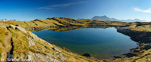 Photo : Lac Noir, Plateau d'Emparis, La Grave, Oisans, Hautes-Alpes (05)