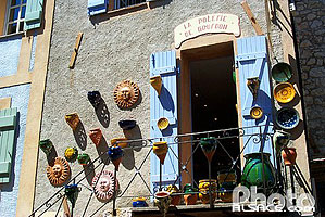 Photo : Commerc de Poterie, Gourdon, Alpes-Maritimes (06)