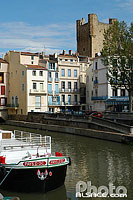 Canal Robine, Narbonne, Aude (11), Languedoc-Roussillon, France