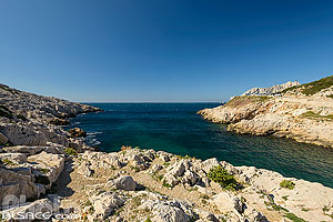 Photo : Calanque et port de Callelongue, Les Goudes, Parc national des Calanques, Marseille, Bouche-du-Rhône (13)