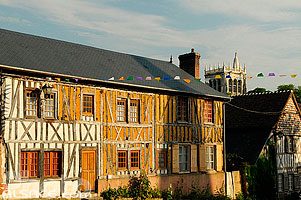 Photo : Le Bec-Hellouin, Eure (27), Haute-Normandie, France
