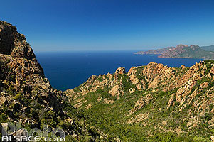 Photo : Les Calanches de Piana et le Golfe de Porto, Piana, Corse-du-Sud (2A), Corse, France