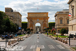 Photo : Arc de triomphe, Rue Foch, Montpellier, Hérault (34)