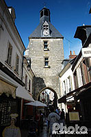 Photo : Tour de l'Horloge, Rue Nationale, Amboise, Indre-et-Loire (37), Centre, France