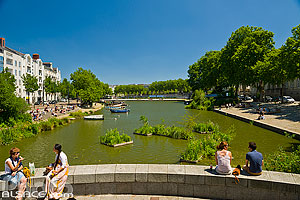 Photo : L'Erdre, Place du Pont Morand, Nantes, Loire-Atlantique (44)