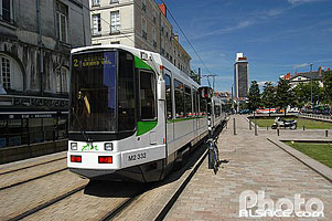 Photo : Tramway, Cours Olivier de Clisson, Nantes, Loire-Atlantique (44)