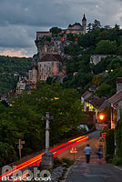 Photo : Rocamadour au crépuscule, Haut-Quercy, Lot (46)