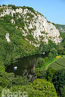 Photo : Le Lot, Saint-Cirq-Lapopie, Parc naturel régional des Causses du Quercy, Lot (46)