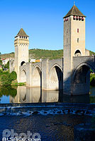 Photo : Pont Valentré, Cahors, Lot (46)