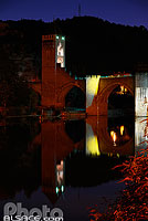 Photo : Illumination du Pont Valentré, Cahors, Lot (46)
