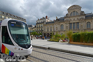 Photo : Tramway, Place du Ralliment, Angers, Maine-et-Loire (49)