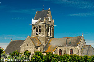 Photo : Eglise, Sainte-Mère-Eglise, Manche (50)