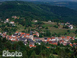 Photo : Village de Dabo vue depuis la chapelle Saint-Leon, Moselle (57)