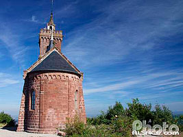 Photo : Chapelle Saint-Leon sur le rocher de Dabo, Dabo, Moselle (57)