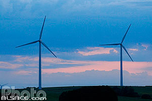 Photo : Eoliennes de Foulcrey, Moselle (57), Lorraine, France