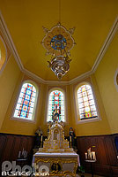 Photo : Eglise priorale Rose d'Or, Saint-Quirin, Moselle (57), Lorraine, France
