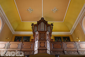 Photo : Orgue Silbermann, Eglise priorale Rose d'Or, Saint-Quirin, Moselle (57), Lorraine, France