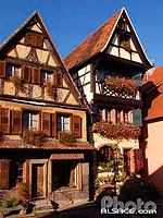 Photo : Maisons Alsacienne, Dambach-la-Ville, Bas-Rhin (67)